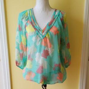 Lane Bryant Sheer Floral Blouse Size 14/16